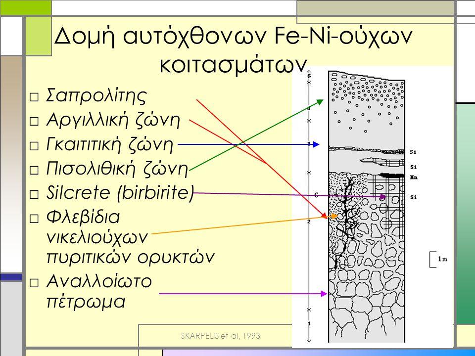 Δομή αυτόχθονων Fe-Ni-ούχων κοιτασμάτων