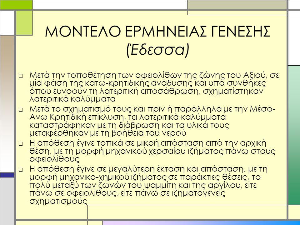 ΜΟΝΤΕΛΟ ΕΡΜΗΝΕΙΑΣ ΓΕΝΕΣΗΣ (Έδεσσα)