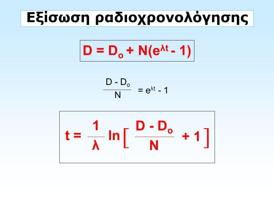 Εξίσωση ραδιοχρονολόγησης