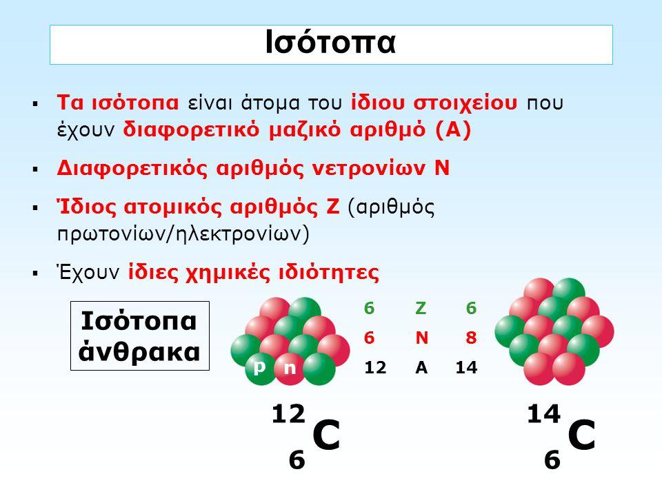 C C Ισότοπα Ισότοπα άνθρακα 12 6 14 6