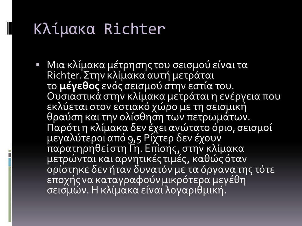Κλίμακα Richter
