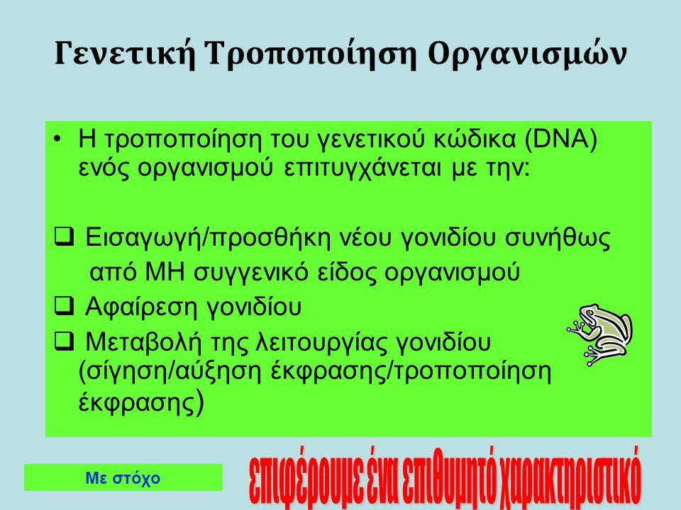 Γενετική Τροποποίηση Οργανισμών