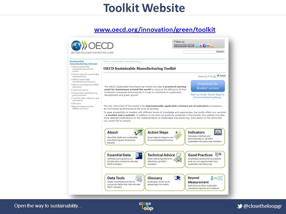 Toolkit Website www.oecd.org/innovation/green/toolkit
