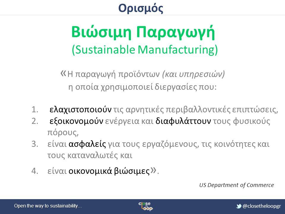 Βιώσιμη Παραγωγή (Sustainable Manufacturing)