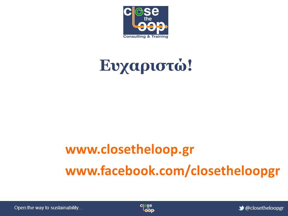 Ευχαριστώ! www.closetheloop.gr www.facebook.com/closetheloopgr