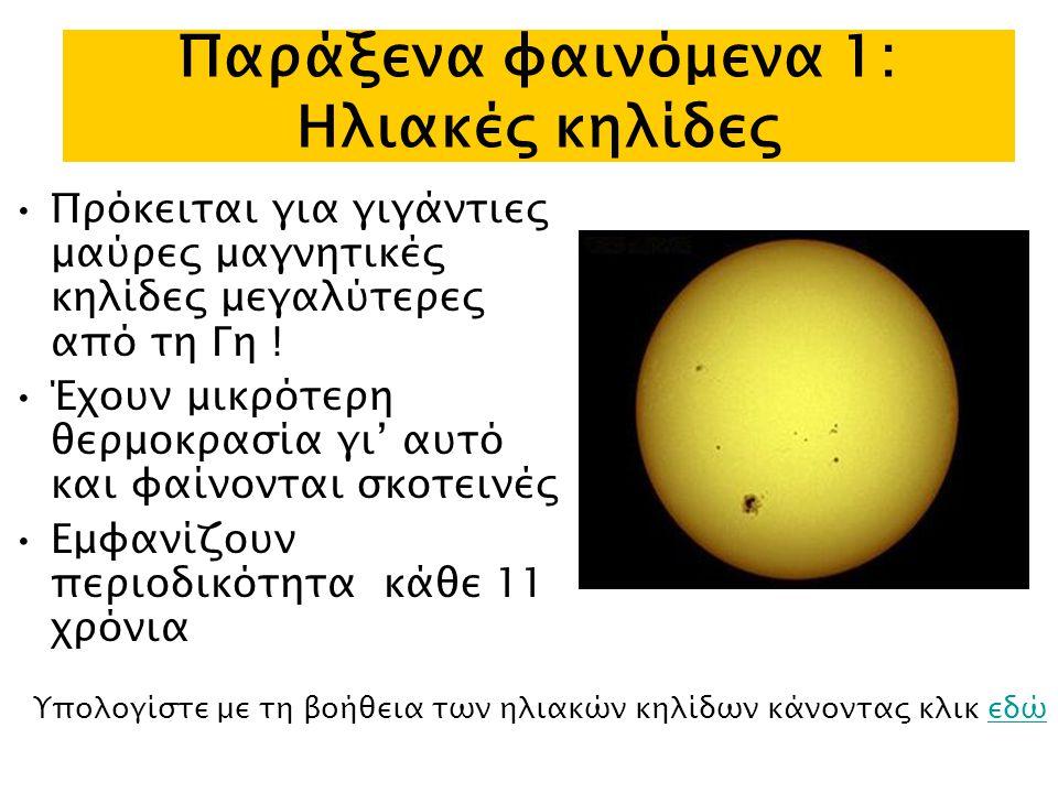 Παράξενα φαινόμενα 1: Ηλιακές κηλίδες