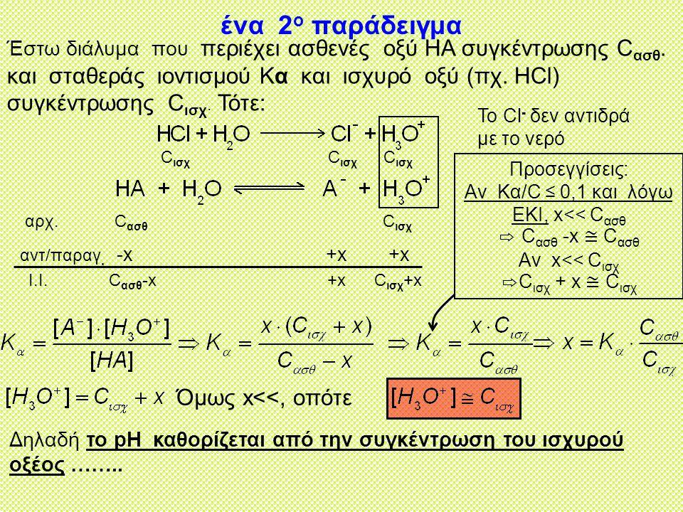 ένα 2ο παράδειγμα Όμως x<<, οπότε