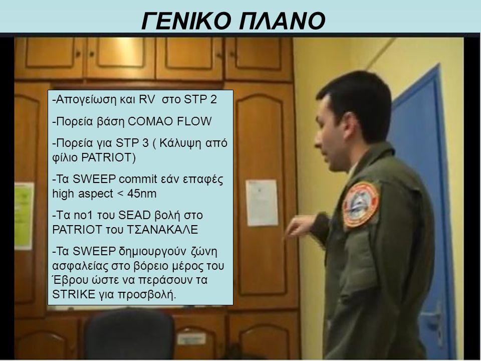 ΓΕΝΙΚΟ ΠΛΑΝΟ -Απογείωση και RV στο STP 2 -Πορεία βάση COMAO FLOW