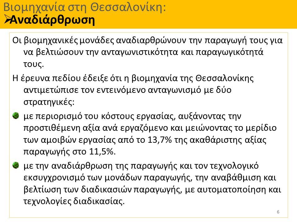Βιομηχανία στη Θεσσαλονίκη: Αναδιάρθρωση