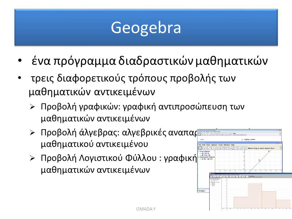 Geogebra ένα πρόγραμμα διαδραστικών μαθηματικών