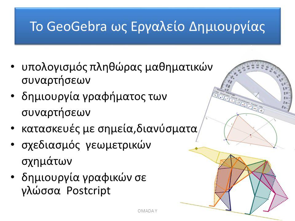 Το GeoGebra ως Εργαλείο Δημιουργίας