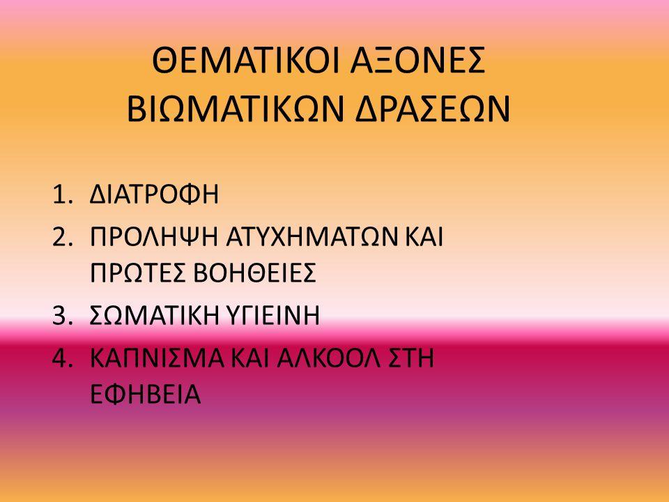 ΘΕΜΑΤΙΚΟΙ ΑΞΟΝΕΣ ΒΙΩΜΑΤΙΚΩΝ ΔΡΑΣΕΩΝ