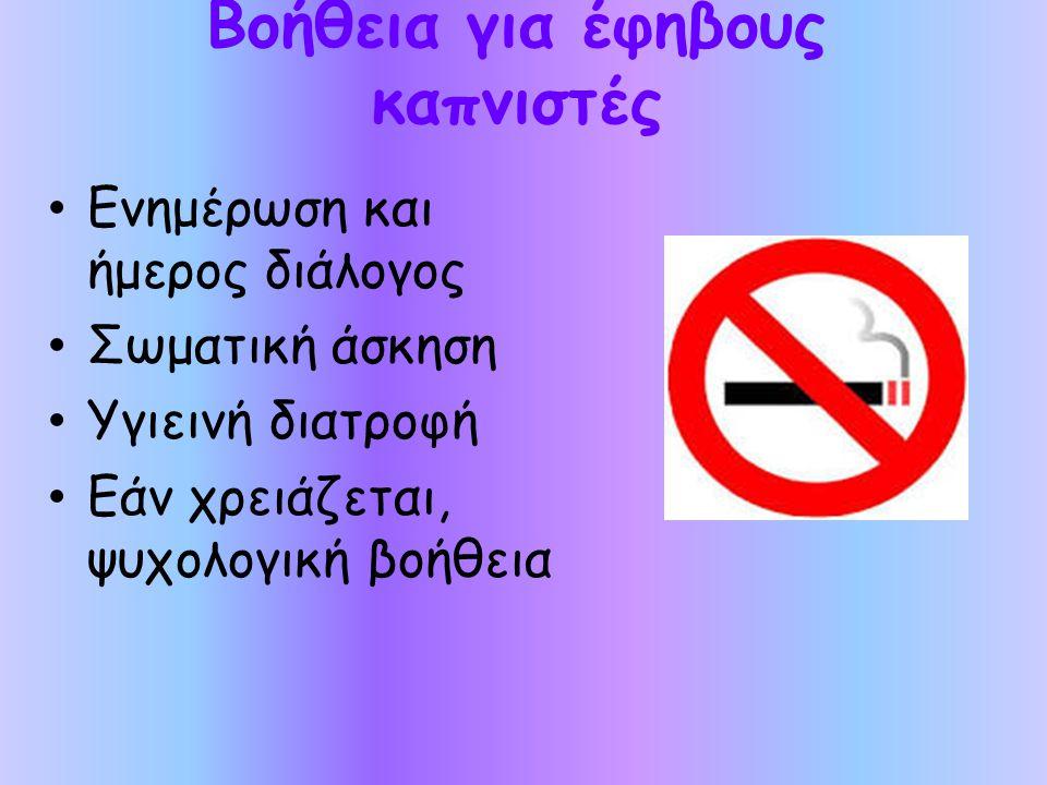 Βοήθεια για έφηβους καπνιστές