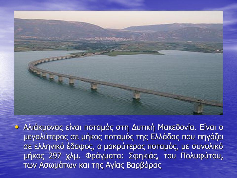 Αλιάκμονας είναι ποταμός στη Δυτική Μακεδονία