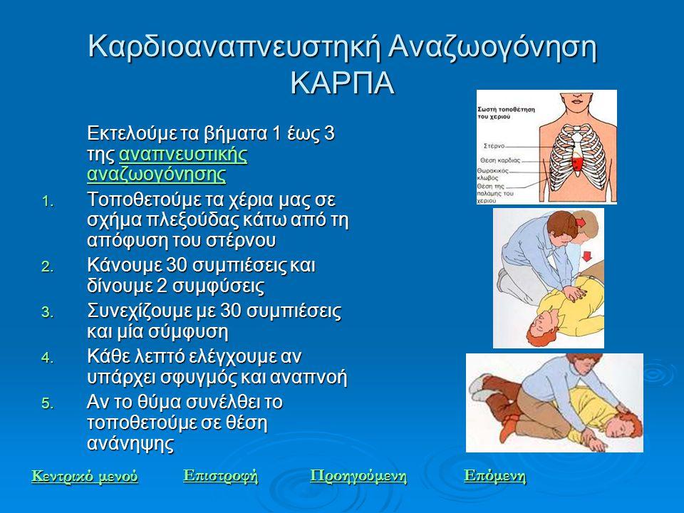 Καρδιοαναπνευστηκή Αναζωογόνηση ΚΑΡΠΑ
