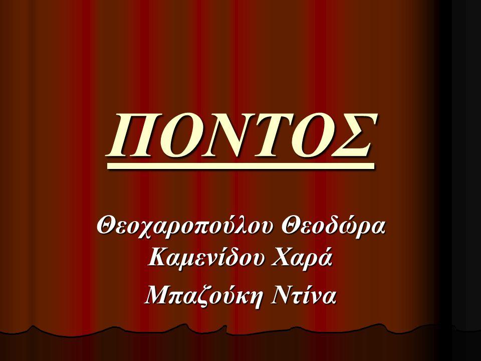 Θεοχαροπούλου Θεοδώρα Καμενίδου Χαρά Μπαζούκη Ντίνα