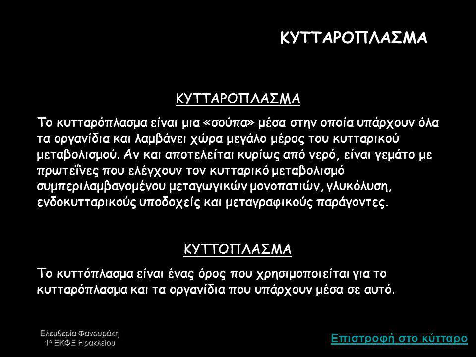 ΚΥΤΤΑΡΟΠΛΑΣΜΑ ΚΥΤΤΑΡΟΠΛΑΣΜΑ