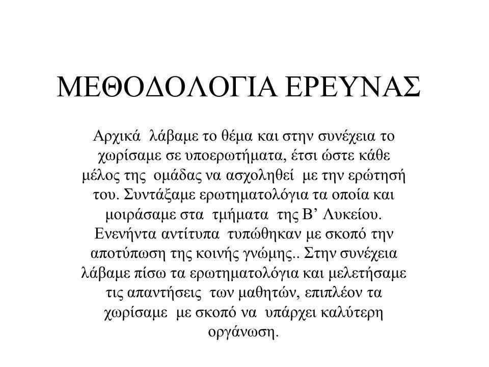 ΜΕΘΟΔΟΛΟΓΙΑ ΕΡΕΥΝΑΣ