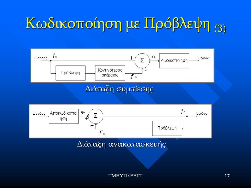 Κωδικοποίηση με Πρόβλεψη (3)