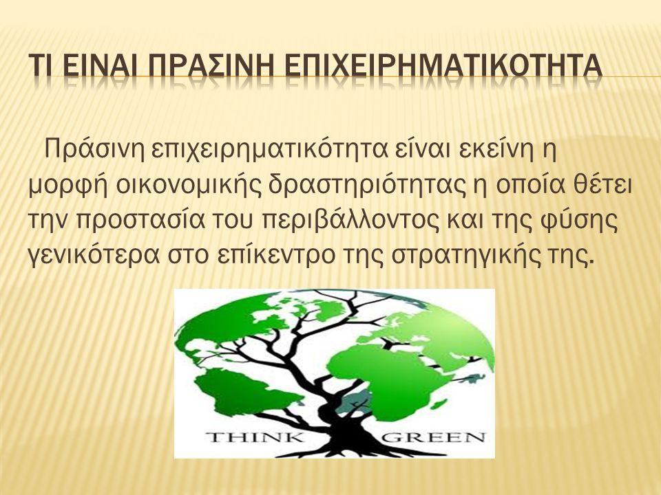 Τι ειναι Πρασινη Επιχειρηματικοτητα