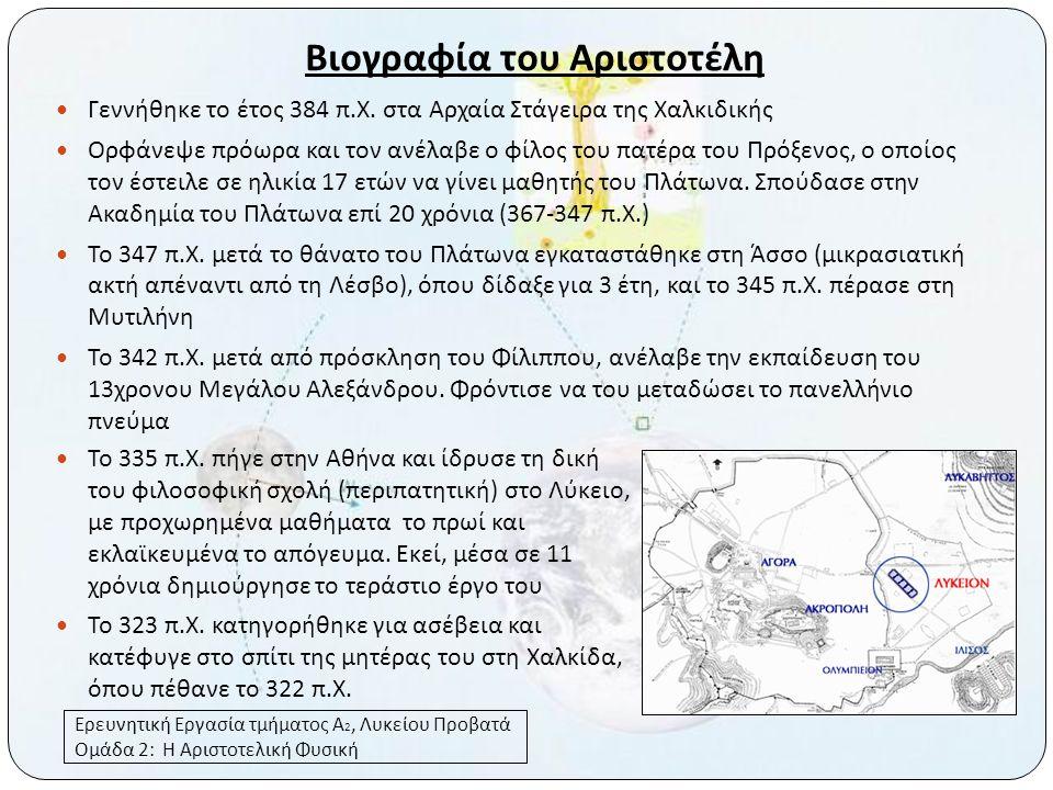 Βιογραφία του Αριστοτέλη