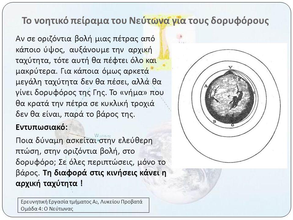 Το νοητικό πείραμα του Νεύτωνα για τους δορυφόρους