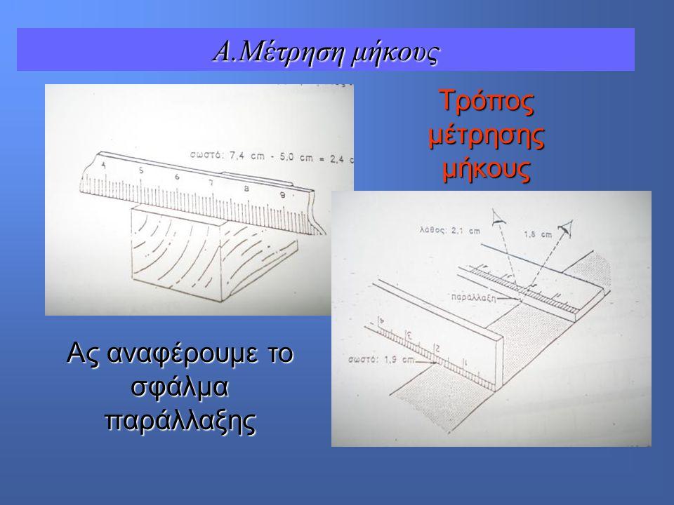 A.Μέτρηση μήκους Τρόπος μέτρησης μήκους