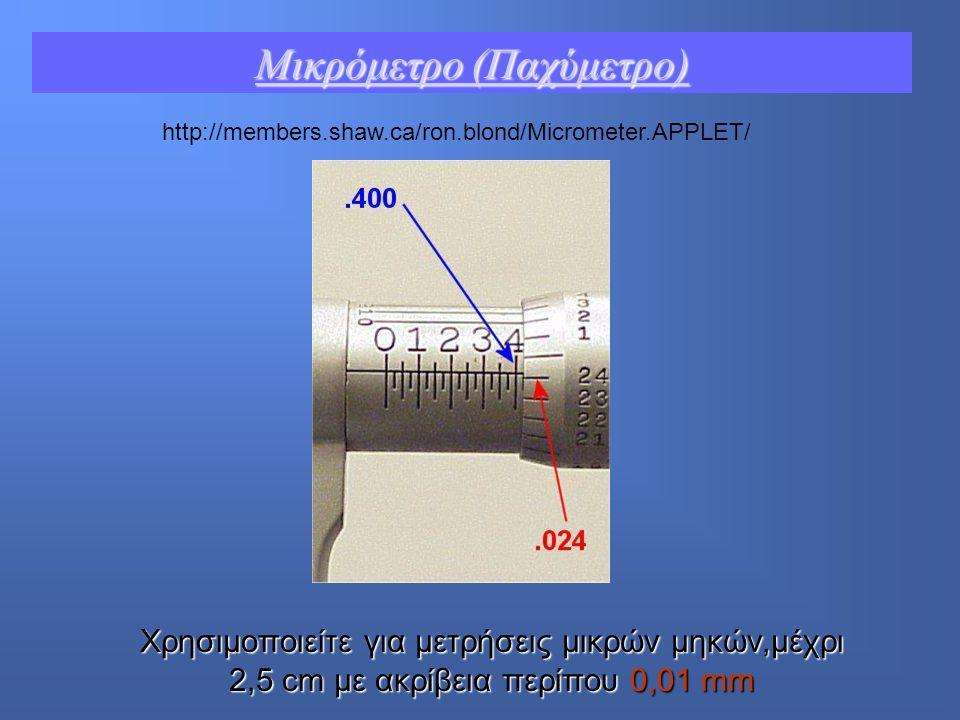 Μικρόμετρο (Παχύμετρο)