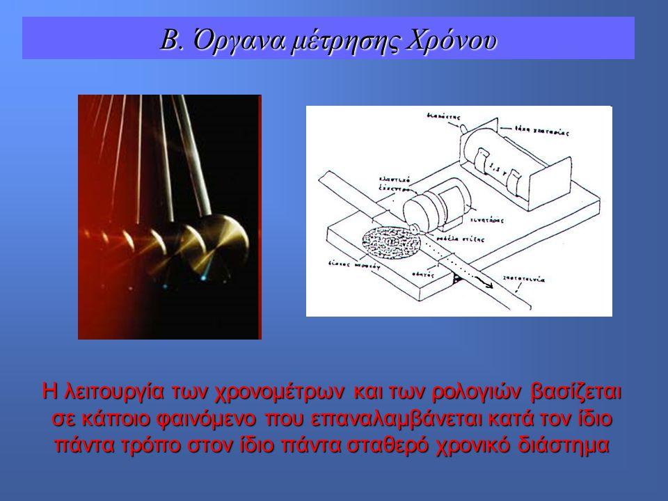 Β. Όργανα μέτρησης Χρόνου