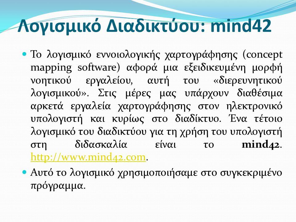 Λογισμικό Διαδικτύου: mind42