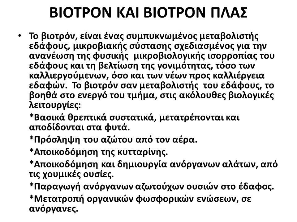 ΒΙΟΤΡΟΝ ΚΑΙ ΒΙΟΤΡΟΝ ΠΛΑΣ