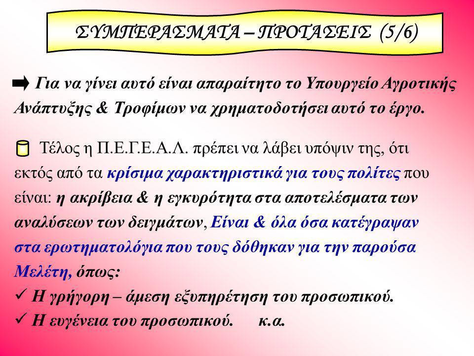 ΣΥΜΠΕΡΑΣΜΑΤΑ – ΠΡΟΤΑΣΕΙΣ (5/6)