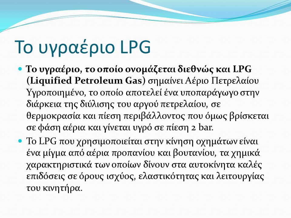 Το υγραέριο LPG