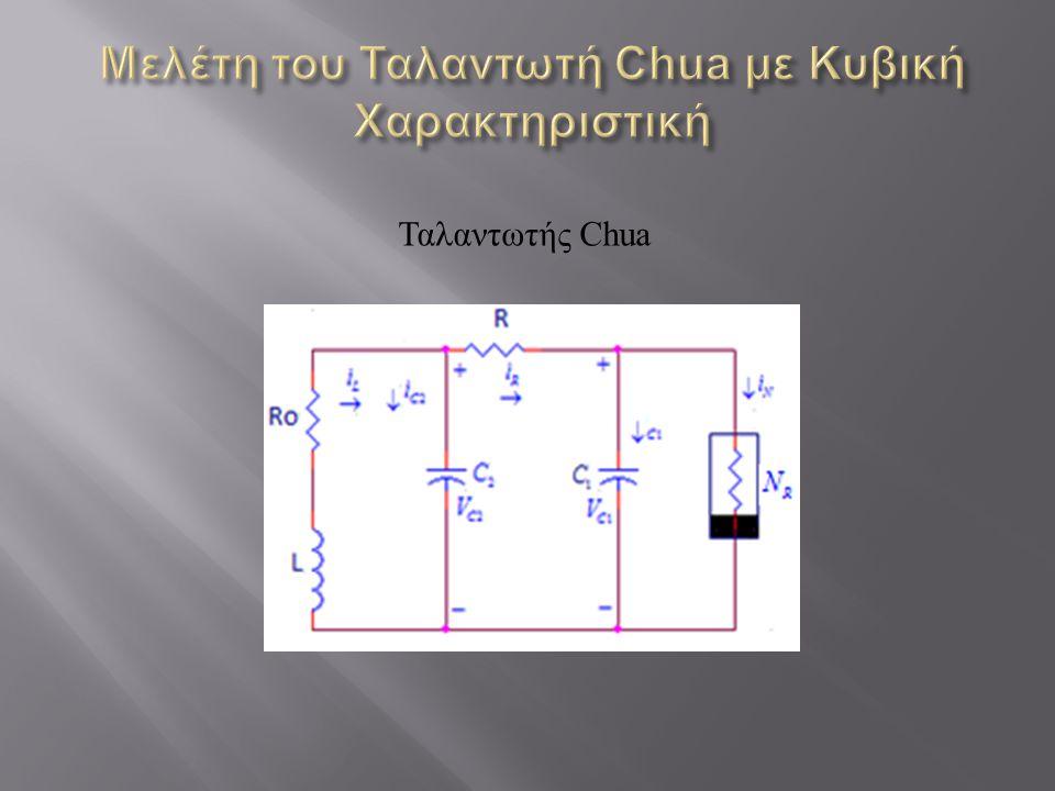 Μελέτη του Ταλαντωτή Chua με Κυβική Χαρακτηριστική