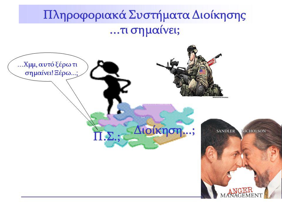 Πληροφοριακά Συστήματα Διοίκησης ...τι σημαίνει; Διοίκηση...; Π.Σ.;