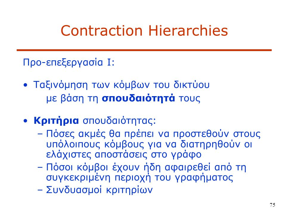 Contraction Hierarchies