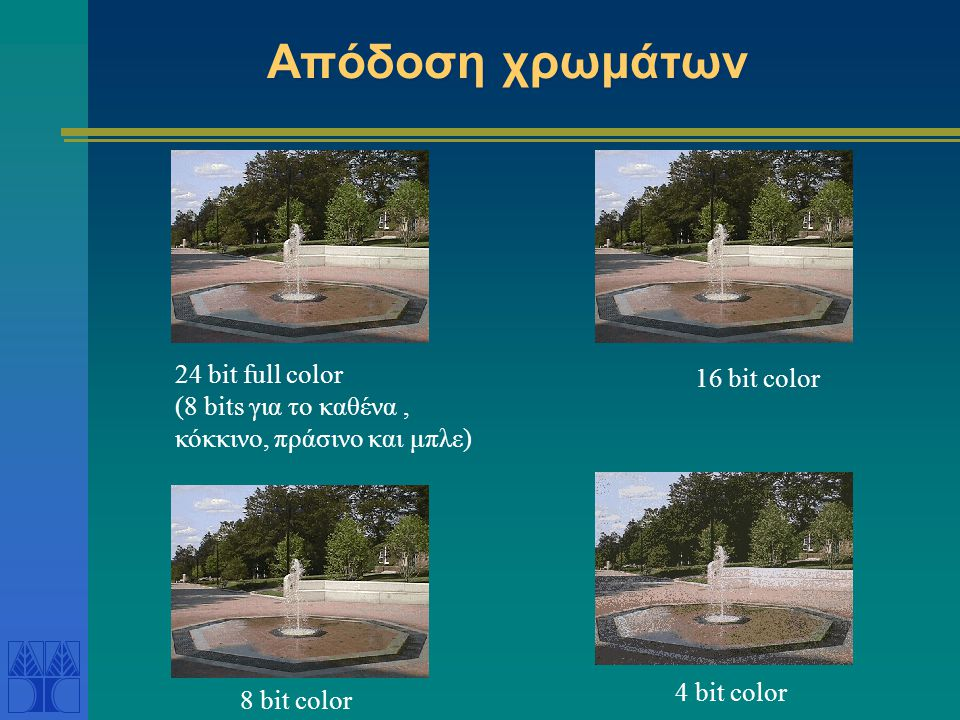 Απόδοση χρωμάτων 24 bit full color 16 bit color