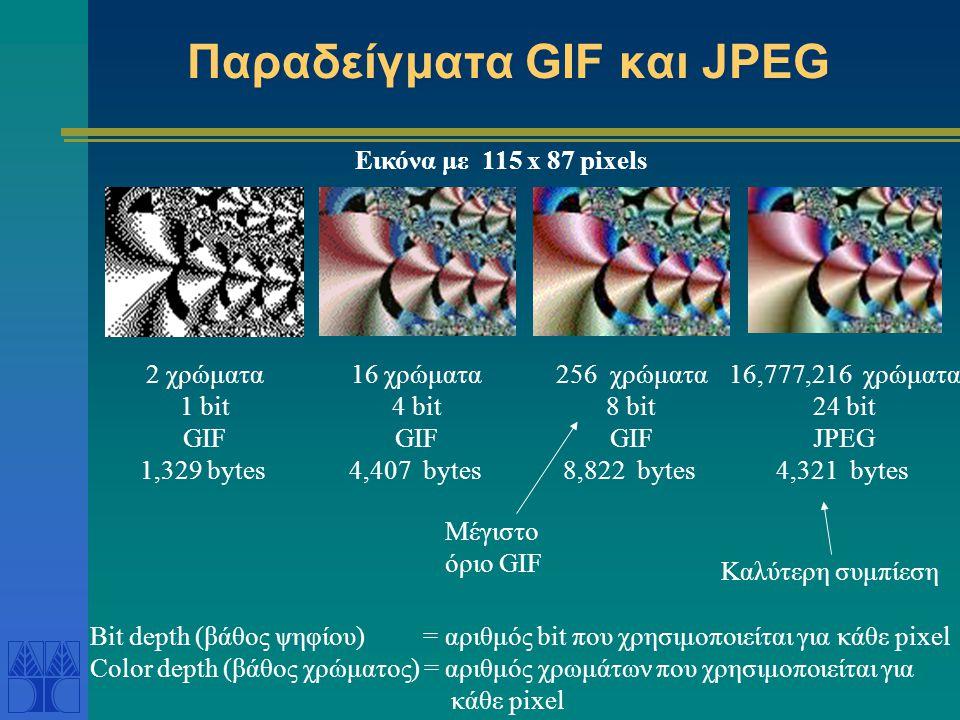 Παραδείγματα GIF και JPEG