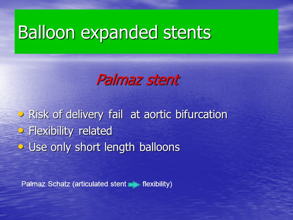 Balloon expanded stents