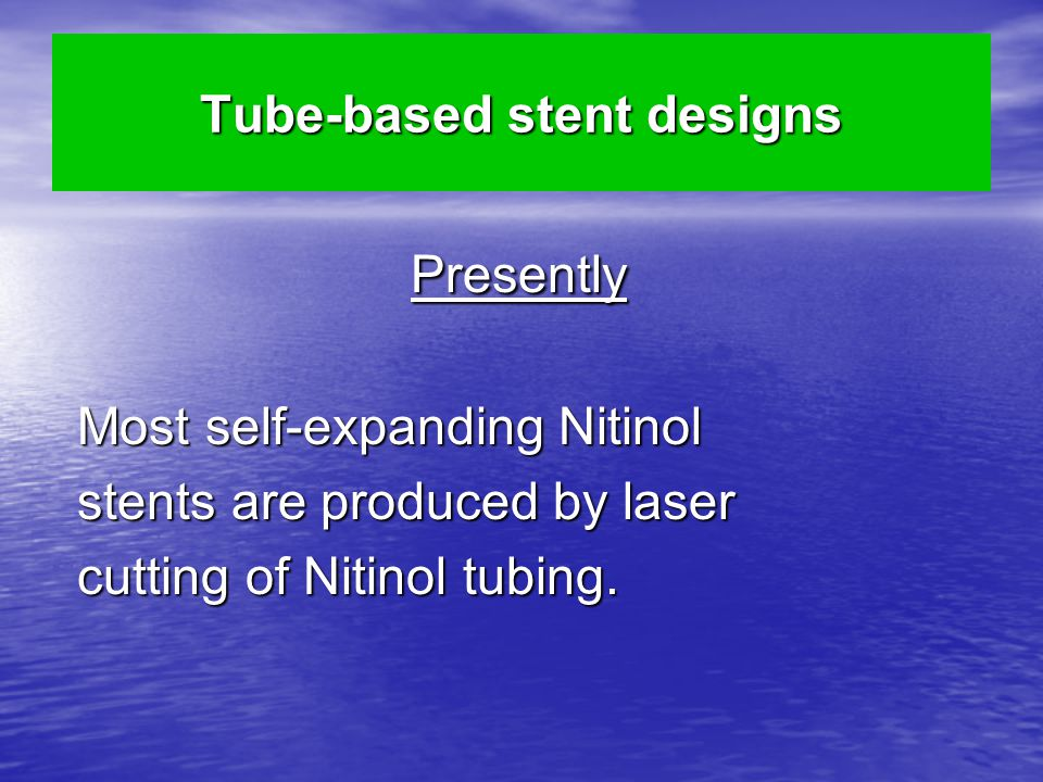 Tube-based stent designs
