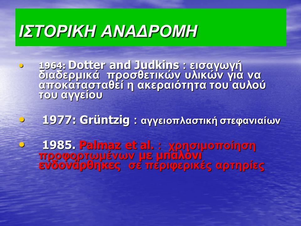 ΙΣΤΟΡΙΚΗ ΑΝΑΔΡΟΜΗ 1977: Grüntzig : αγγειοπλαστική στεφανιαίων