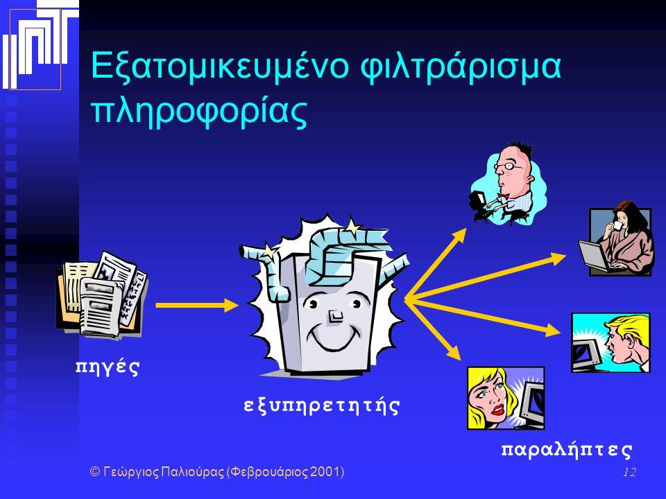 Εξατομικευμένο φιλτράρισμα πληροφορίας