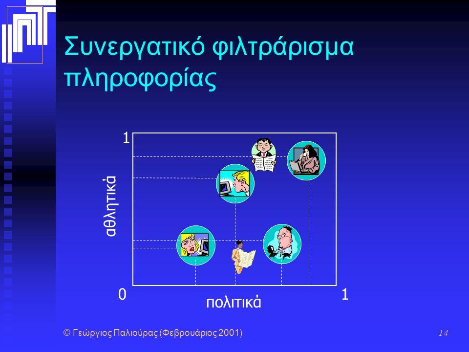 Συνεργατικό φιλτράρισμα πληροφορίας