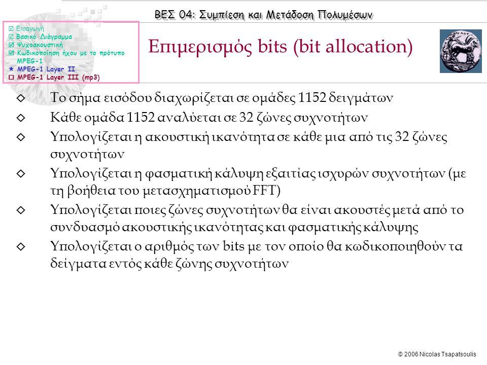 Επιμερισμός bits (bit allocation)