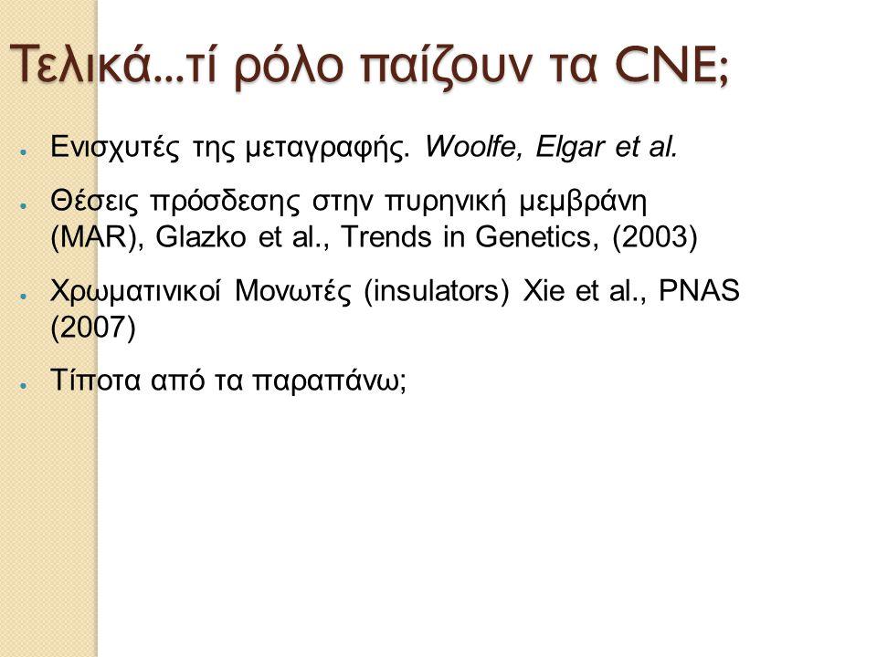 Τελικά...τί ρόλο παίζουν τα CNE;