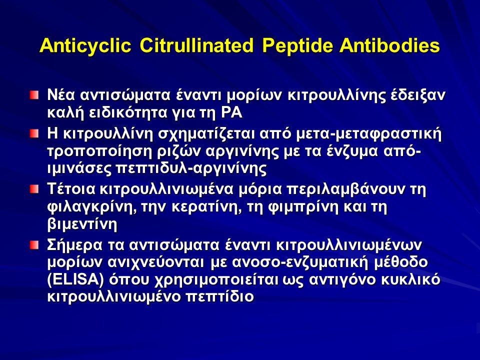Anticyclic Citrullinated Peptide Antibodies