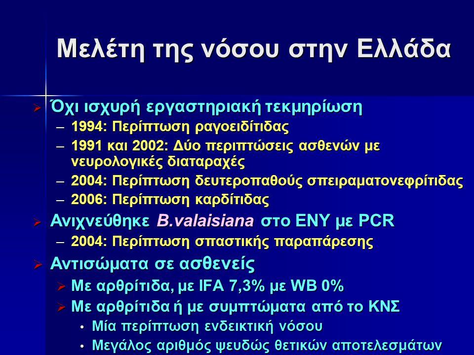 Μελέτη της νόσου στην Ελλάδα