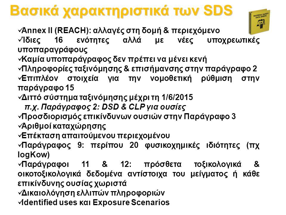 Βασικά χαρακτηριστικά των SDS