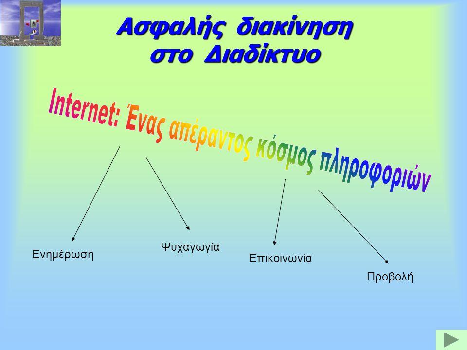 Ασφαλής διακίνηση στο Διαδίκτυο