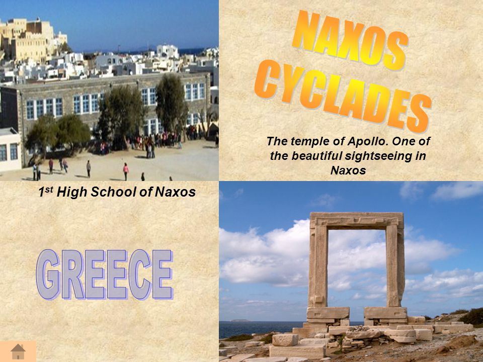 The temple of Apollo. One of the beautiful sightseeing in Naxos